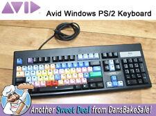 AVID Windows PS/2 Keyboard w/ Avid Media Composer Editing Keycaps made by Sejin