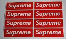 """(8) SUPREME STICKERS, 1"""" x 3.5""""  SUPREME RED BOX LOGO STICKER - SUPREME STICKER"""
