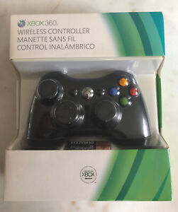 New In Box Microsoft Branded Wireless Video Game Controller for Xbox 360 Black