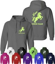 Personalised Horsey Hoodie Rider's Name and Horse Name Equestrian Kids & Adults