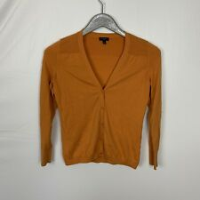 Talbots Orange Cotton Blend Soft Knit Cardigan Sweater Size SP Small Petite