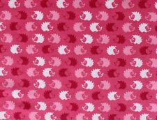 SNUGGLE FLANNEL - HOT PINK & WHITE HEDGEHOGS on HOT PINK 100% Cotton*NEW* BTY