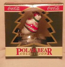 """Coca Cola Polar Bear Collection """"Skating Polar Bear"""" Christmas Ornament 1994"""