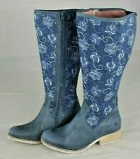 JJ FOOTWEAR  Damen Stiefel mit Varioschaft Weitschaftstiefel blau Gr 37 NEU R200