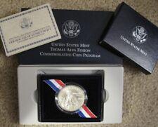 2004 US MINT THOMAS ALVA EDISON COMMEMORATIVE SILVER DOLLAR UNC.