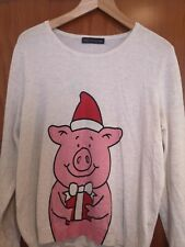 marks and spencer percy pig Christmas jumper size 16