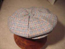 Vintage PENDLETON Men's  Newsboy Driving Wool Plaid Cap Golf Cabbie  Hat  L