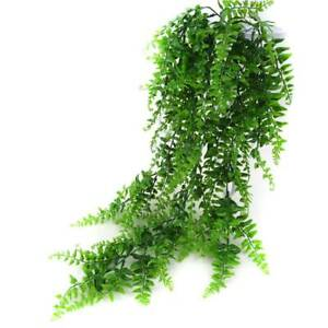 Artificial Plant Hanging Fake Macrame Fern Succulent Green Plant Leaves Decor