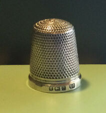 Solid Silver Thimble Birmingham 1926 Size 18 - 4g