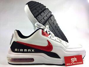 New Mens Nike Air Max LTD 3 BV1171-100 White/University Red/Black Shoes w1