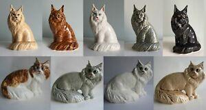 Maine coon cat porcelain figurine, handmade, cat figurine