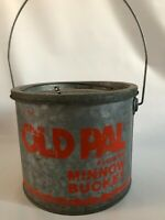Minnow Bucket Old Pal Floating Minnow Bucket 8 Quart USA Vintage
