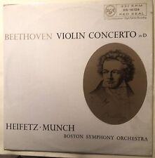 LP-HEIFETZ.MUNCH Beethoven Violin Concert in D-UK- RCA RB-16124