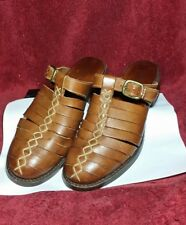 Cole Haan Country Slide Mules Saddle Brown Womens Size 8 M Detail Stitching