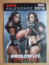 MEN'S HEALTH WALL CALENDAR 2018  LFL - Lingerie Football League VERY RARE!!!