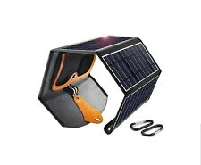 CHOETECH 22W Solar Charger with Dual USB Ports, Foldable Portable Waterproof