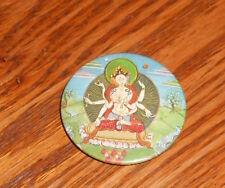 """Hindu God Button Pin Original Promo 2.25"""""""