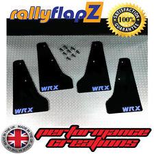 miniflapZ SUBARU IMPREZA 01-07 Paraspruzzi Qty4 Nero Azzurro Cielo WRX 3mm PVC