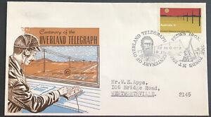 Australian FDC WCS 1972 Centenary Of The Overland Telegraph