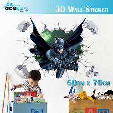 3D Wall Stickers Removable The Avengers Batman Broken Wall Kid Boy Room A Boy