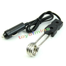 New Portable Safe 12V Car Immersion Heater Auto Electric Tea Coffee Water Heater