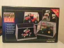 Ertl Prestige 1:64 Tractor Display Case Set of 3 w/Bleacher Brackets Barn Scene