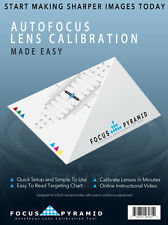 Focus Pyramid Auto Focus Lens Calibration Tool for Canon Nikon Sony and more