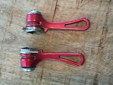 Vintage Simplex Retrofriction Braze On  Shifter Set Anodized RED! Friction SLJ