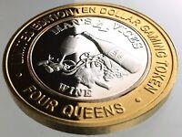 Ten Dollar Gaming Token 4 Four Queens Casino Las Vegas Nevada Silver R977