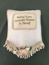 Vintage Inspirational Quote/Message/Saying Decorative Stuffed Pillow