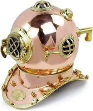 Vintage Boston Diving Helmet U.S Navy Mark V Scuba Antique Brass Copper Plating