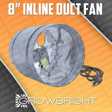 """8"""" DUCT FAN - 500/300 CFM Booster / Blower - Grow Light Inline Cool Air Vent Fan"""