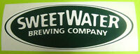 SWEETWATER BREWING COMPANY, 2 3/4 x 7 Oval Beer STICKER Label, Atlanta, GEORGIA