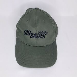 Sig Sauer Academy Hat Olive Green Black Embroidery Adjustable One Size Fits All