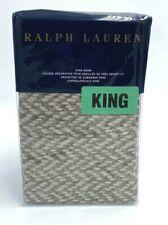 NEW Ralph Lauren Marylebone King Size Pillow Sham Brown Tan