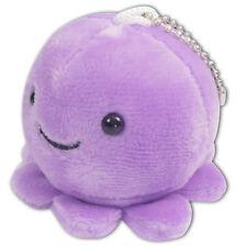 "2"" Purple Baby Octopus Round Soft Plush Toy Stuffed Animal Keychain Cute New"