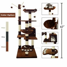 """New listing 67"""" Cat Tree Tower Post Toy Condo Scratching Post Pet House Activity Centre"""