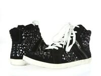 Steve Madden 204230 black hi-top suede fashion sneakers studs Shoes Size 9.5 M