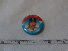 RARE 1992 Baseball Pin Chris James Cleveland Indians button 1 1/2 in MLB #81