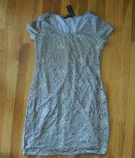 NWT Womens TIANA B. Taupe Lace Dress Sz M Medium $98