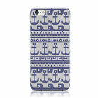 ACHOR WAVE KNIT PATTERN BLUE WHITE CASE COVER FOR APPLE IPHONE MOBILE PHONES