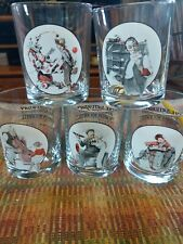 New ListingNorman Rockwell The Saturday Evening Post Glass, Set o 5. Curtis Publishing Co.