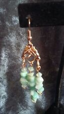 Hand-Made Rose Gold-Plated Chandelier Earrings Amazonite Gemstone chips