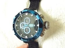 Invicta I-Force 16899 Chronograph Blk Dial, Blue Bezel & Accts, Blk Strap Watch