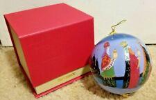 "Li Bien 2019 Nativity 3 Wise Men Large Glass 4"" Ornament Pier 1 W/Gift Box"