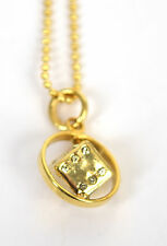 Marc Jacobs Necklace Spinning Dice Crystal Gold Italy New