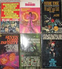 Vintage Science Fiction PB Lot of 6 Heinlein Simak Etc