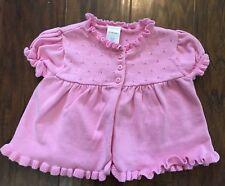 Gymboree Ice Cream Shop 12-18m Pink Pointelle Cotton Ruffle Cardigan Sweater