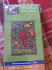 """New listing Autumn / Fall Leaves Porch Flag 28"""" X 40"""" Flip it read Print on Both sides Nwt"""