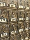 RARE 1900s USPS Post Office Eagle Mailbox Brass Door One Dial